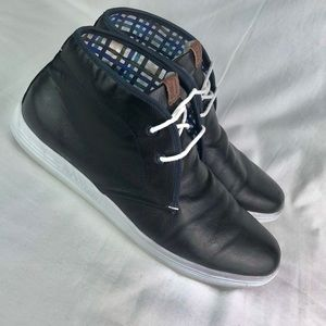 Ben Sherman Black Fashion High Top Sneakers